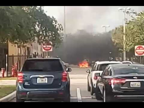 Car fire at Palm Springs Middle School