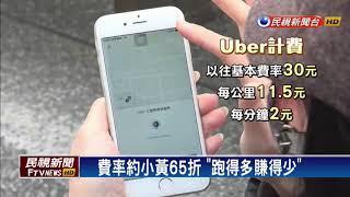 Uber壓低車資 駕駛收入減恐爆逃亡潮-民視新聞
