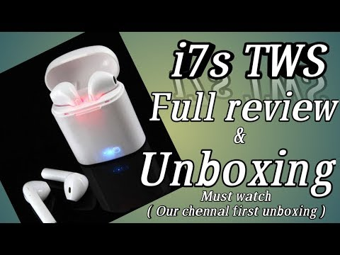 i7S TWS earplugs review and unboxing || fake apple airpods