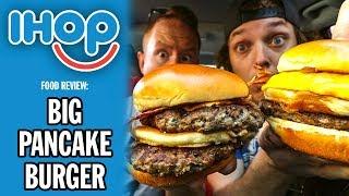 IHOP's *BRAND NEW* Big Pancake Burger Food Review