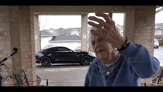 Reveal NEW Mustang GT to 97 Year Old Grandma