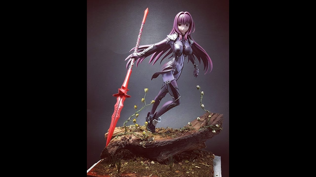 Scathach. Fate/ Grand Order. 1/8 Painted GK figure.