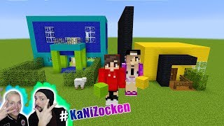 3 MARKER CHALLENGE Minecraft Edition! KAANS HAUS vs NINAS HAUS! Build Battle #KaNiZocken