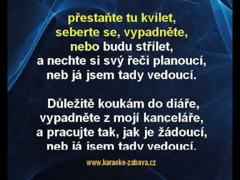 Chinaski - Vedoucí (karaoke z www.karaoke-zabava.cz)