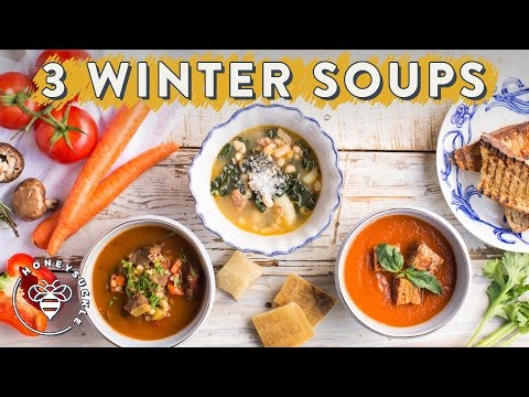 3 Healthy WINTER SOUPS 🍵 For #BuzyBeez