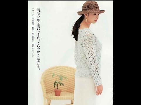 Вязаные крючком кофты из японских журналов