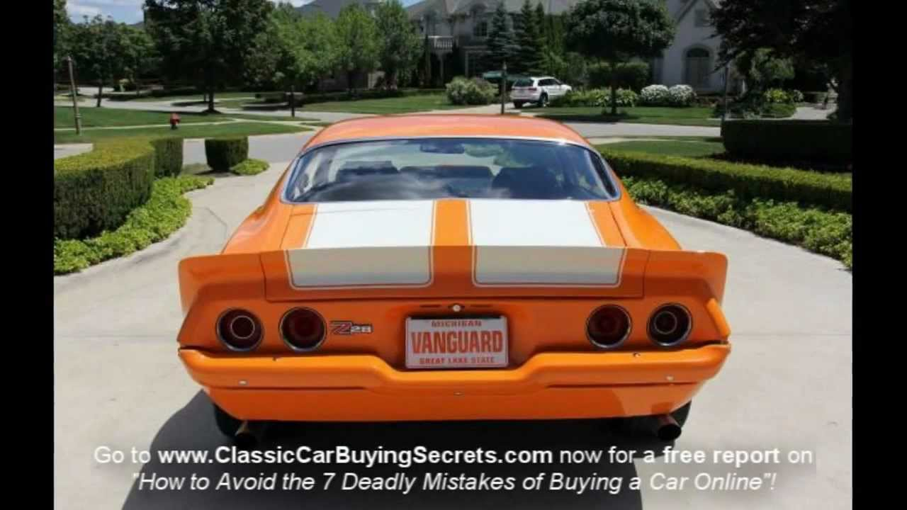 1970 Chevy Camaro Pro Touring Classic Muscle Car for Sale in MI Vanguard  Motor Sales