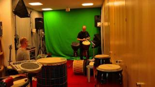 Off beat-Samba-jamming with djembe, davul and darbuka