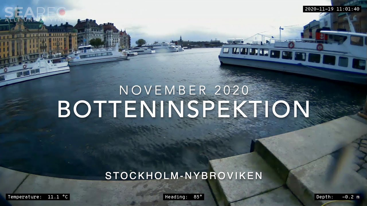 SEAREC Botteninspektion | Bottom Inspection, Stockholm-Nybroviken