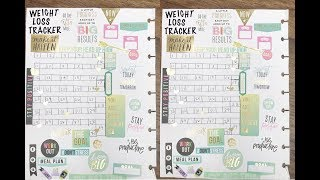 DIY WEIGHT LOSS TRACKER | FITNESS PLANNING IN HAPPY PLANNER | PLAN WITH ME ♡