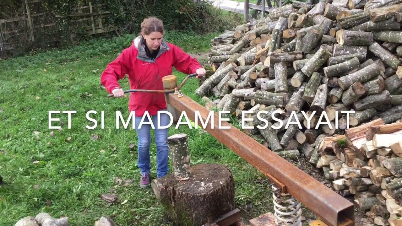 Manual Ecological Log Splitter Youtube