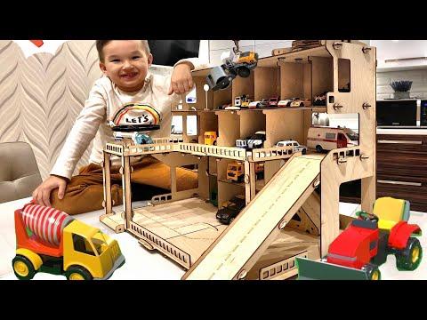 Деревянный гараж для машинок своими руками