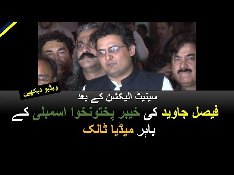 Faisal Javed's Media Talk post Senate Elections - outside KP Assembly Peshawar