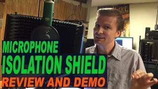 Microphone Isolation Shield Review And Music Recording Demo: Monoprice 602650