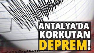 Antalya 5.2 Şiddetinde Depremle Sallandı