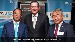 How do people feel about Daniel Andrews's dealings with China?
