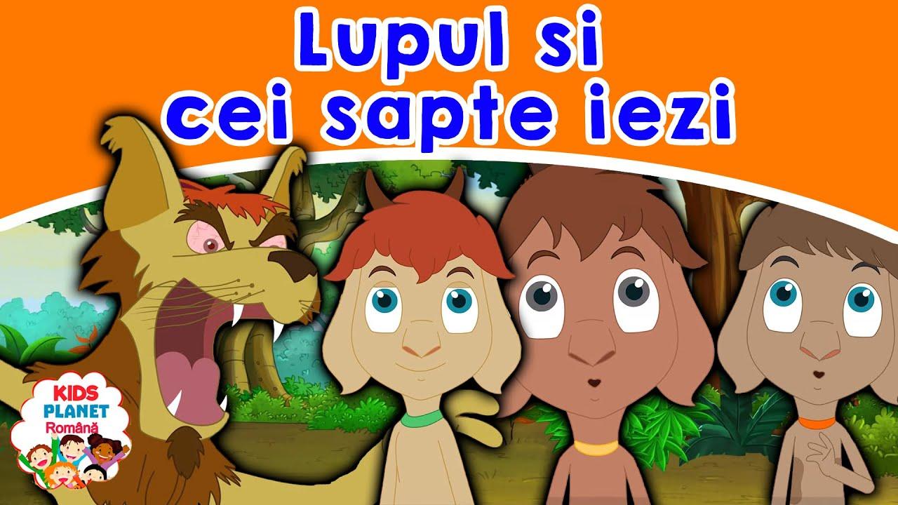 Lupul si cei sapte iezi | Povesti Pentru Copii | Basme În Limba Română | Desene Animate