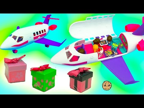 Season 6 & 7 Shopkins Ride On Gift 'Ems Private Jet with Exclusive Doll + Surprise Blind Bags