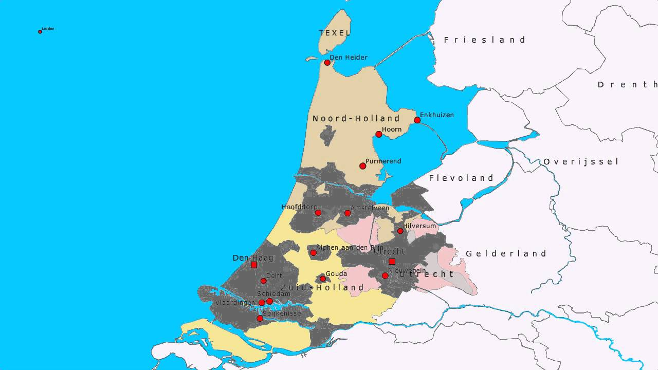 Topografie Noord Holland Zuid Holland En Utrecht Youtube