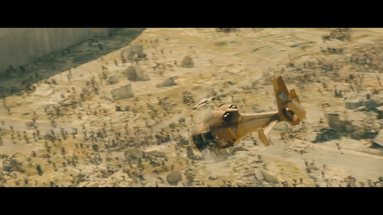 World War Z (2013) –  All zombie waves – Only Action [1080p]