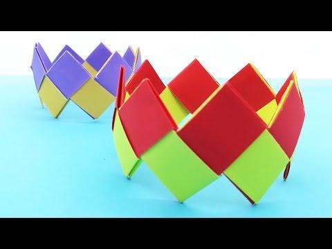 Paper Bracelet Making Easy Tutorial For Kids   Origami Bracelet   Diy Crafts
