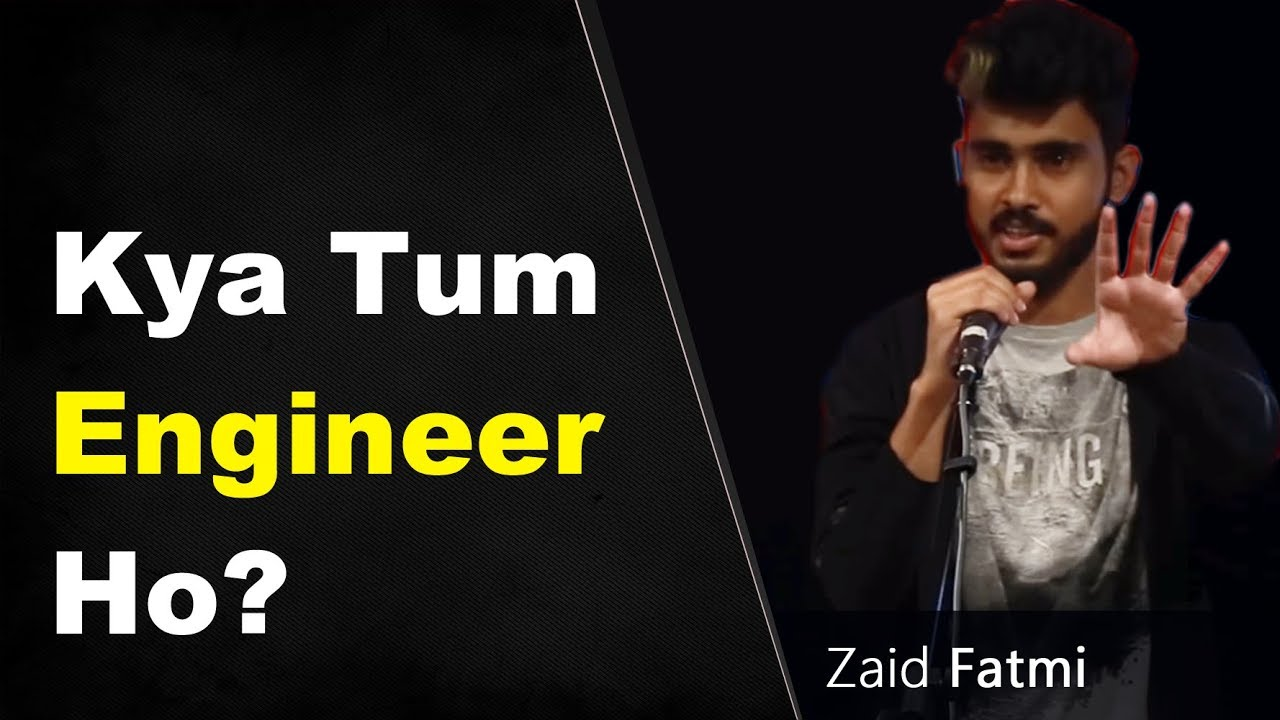 Best Standup Comedy on Engineering by Zaid Fatmi| Funny Comedy Video on Engineering