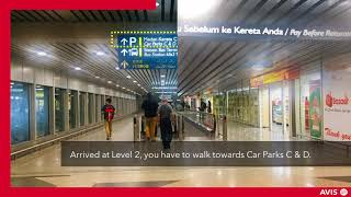 How to get to Avis Counter at Airside & Avis Office at KLIA
