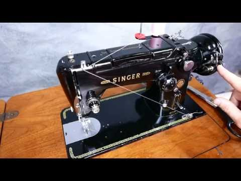 Singer 319W Antique Sewing Machine with Decorative Stitches and Reverse