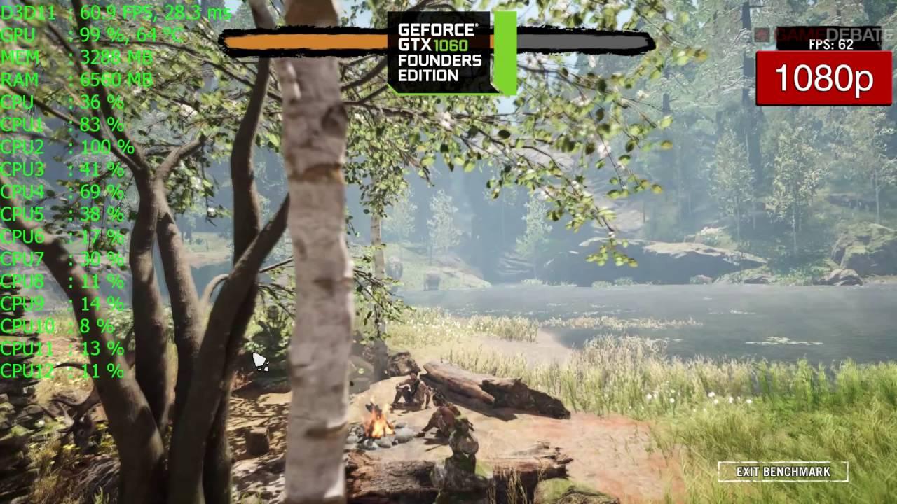 Far Cry Primal Gtx 1060 Frame Rate Benchmark Performance Ultra