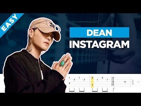 🎸 DEAN INSTAGRAM easy guitar cover + lesson with tabs