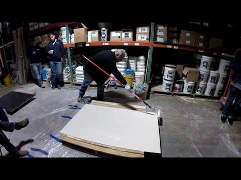 Epoxy Floor. How to Apply Epoxy Flakes. GlobMarble Decorative Concrete Training April 2017