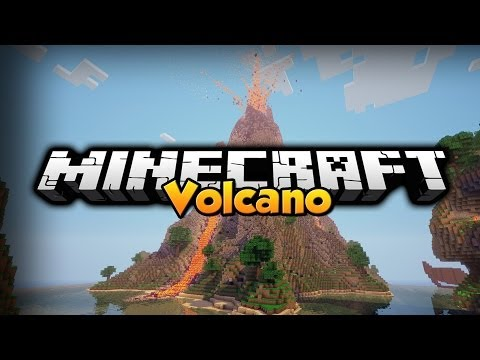 Minecraft Mod Showcase: Volcano,Elevator & Cement Mod 1.7.2