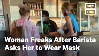 Maskless Trump Supporter Goes Off on Starbucks Barista | NowThis