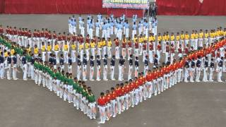 Sainik School Bijapur, Anniversary, Mass PT, Rose Flower formation, 15 Sept 2014