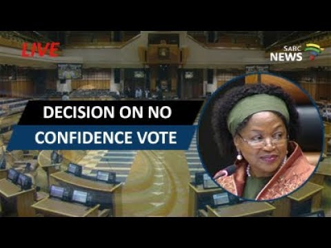 Baleka Mbete announces decision on motion of no confidence v
