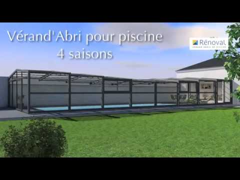 Veranda abri de piscine extend renoval youtube for Renoval abris de piscine