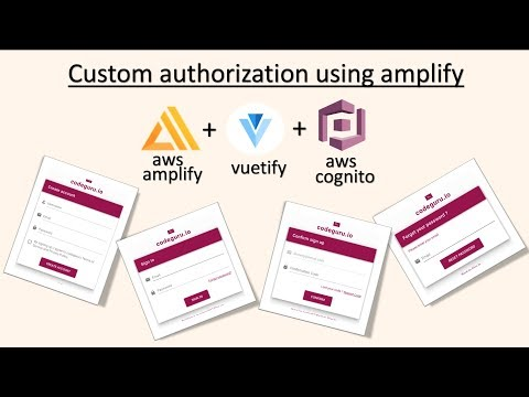 Custom user authorisation using vuetify and aws amplify api
