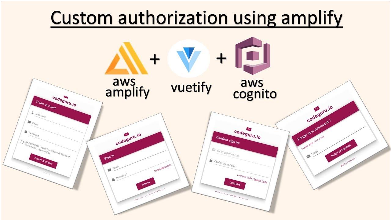 Custom user authorisation using vuetify and aws amplify api - Hashnode