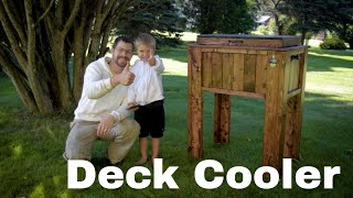 Wooden Patio Ice Chest Cooler | A Project made from inexpensive 2x4