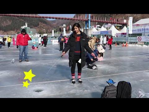 Ice Fishing Festival 2019 | 얼음나라 화천산천어축제 | South Korea | Sadia Rind | Pakistani Youtuber