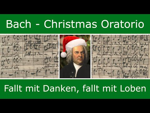 Bach's own score - Fallt mit Danken, fallt mit Loben (chorus)