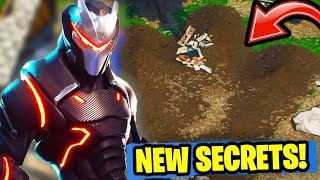 11 NEW EASTER EGGS & SECRETS in Fortnite: Battle Royale! (SEASON 4 OMEGA SKIN UPGRADE & MAP UPDATE)