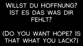 Oomph! - Willst Du Hoffnung? Lyrics with English Translation