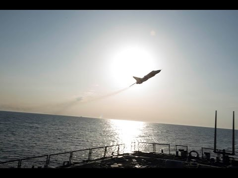 Compilation of Russian jets passing near the USS Donald Cook