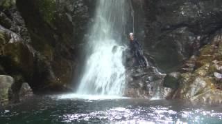 宇無ノ川・南谷滝で水遊び1 南谷真鈴 検索動画 11