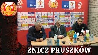 Konferencja po meczu Znicz Pruszków - Stal Mielec (28.04.2017)