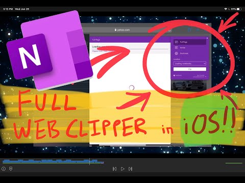 FULL OneNote Web Clipper for iOS, iPadOS, Safari!.