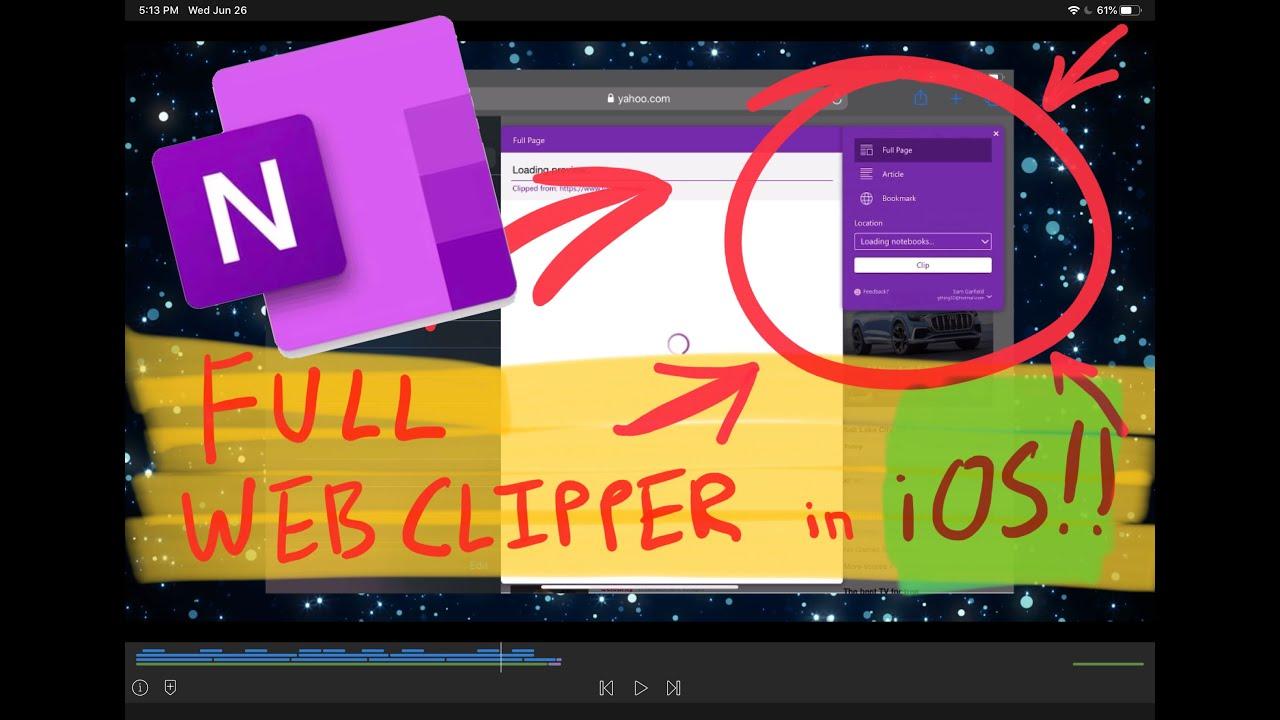 A Better OneNote Web Clipper for iOS, iPadOS, Safari/Firefox