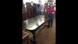 Vintage Spanish Farmhouse Dining Table 10-16d