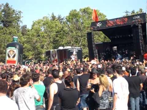 Hatebreed performing at Rockstar Mayhem Festival 2010